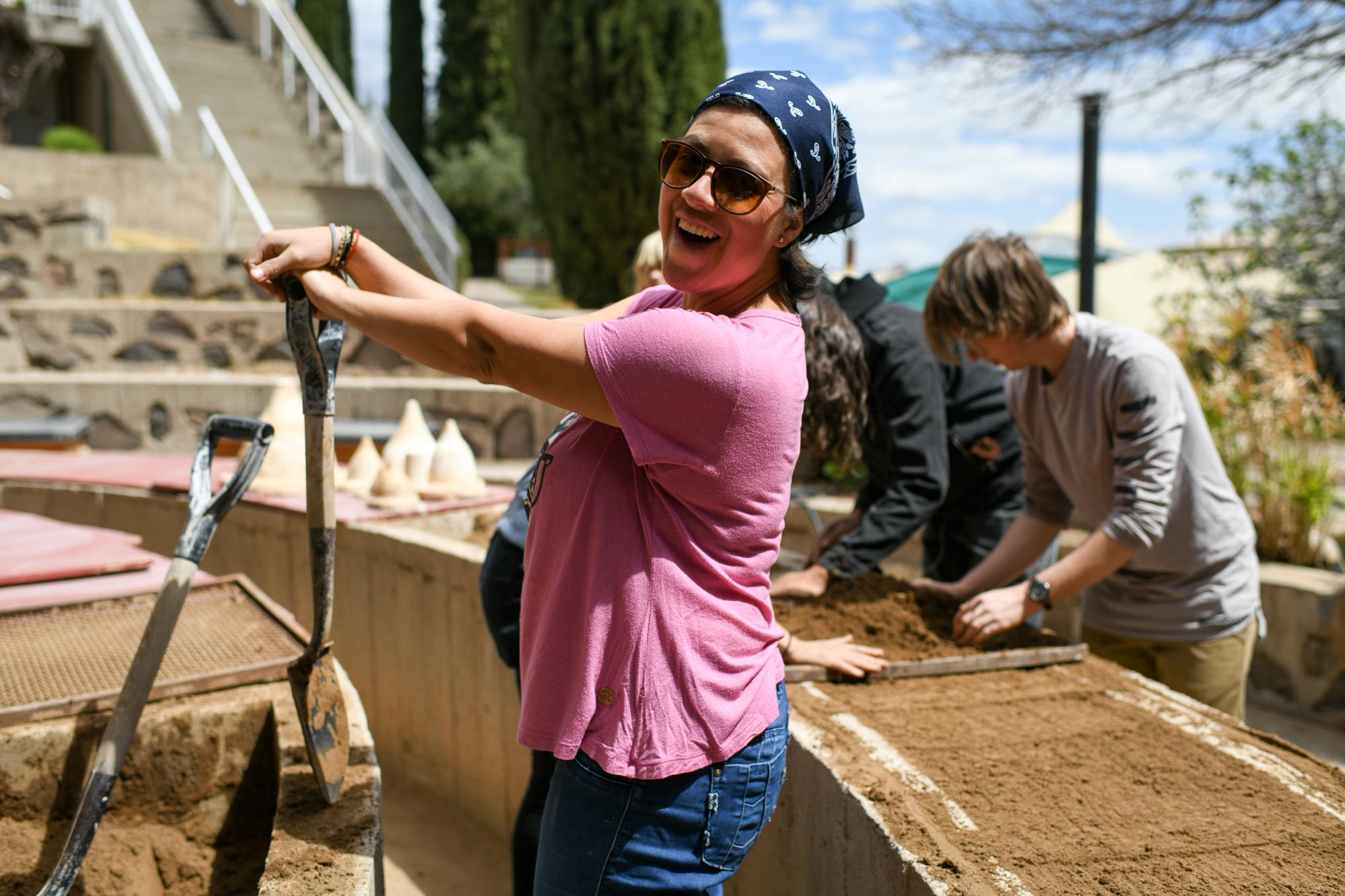 Arcosanti still casting workshop